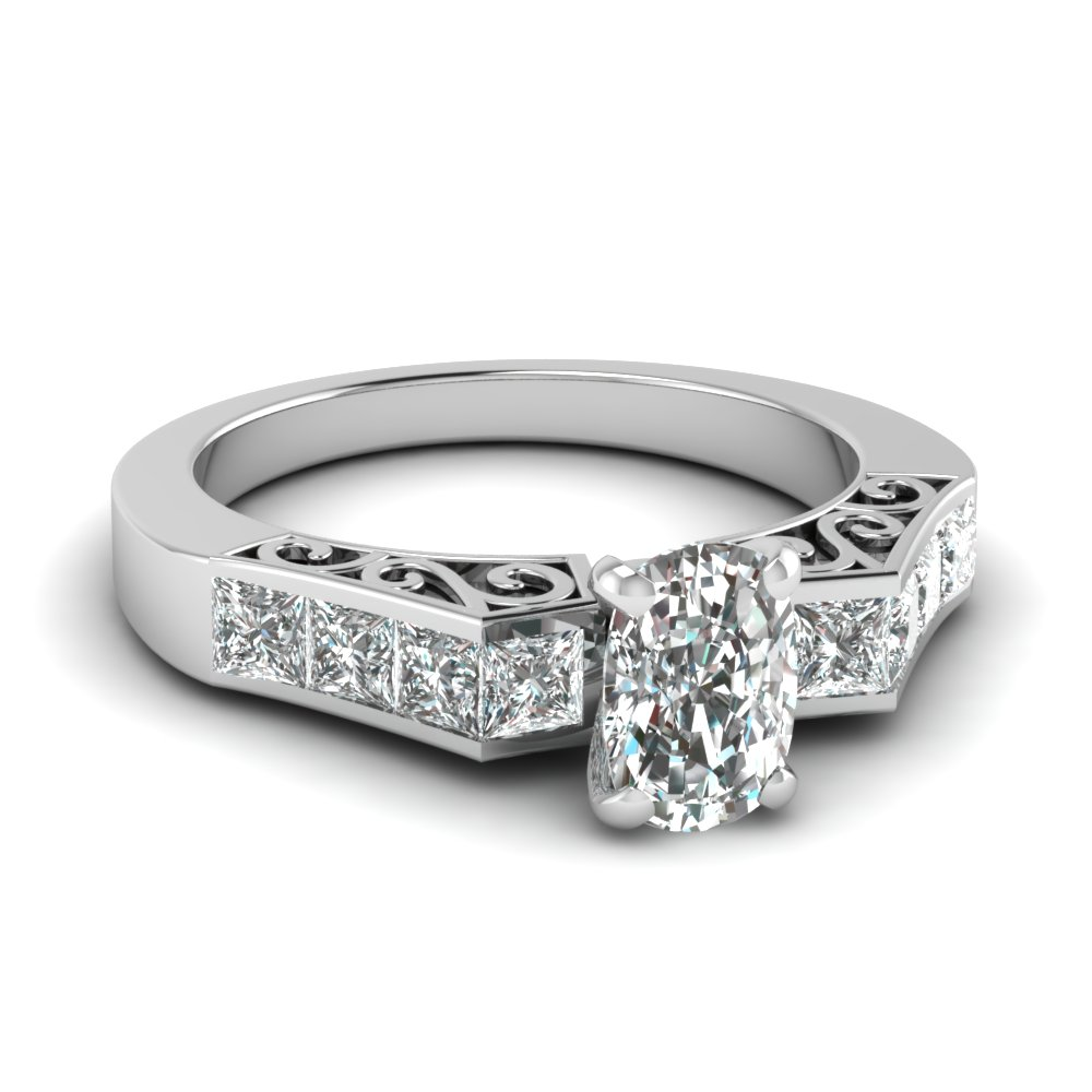 1.50 Ct. Cushion Cut Engagement Rings