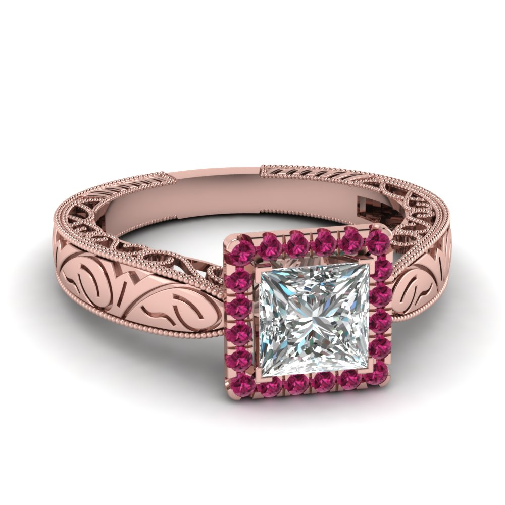 shop for customized pink sapphire vintage engagement rings. Black Bedroom Furniture Sets. Home Design Ideas