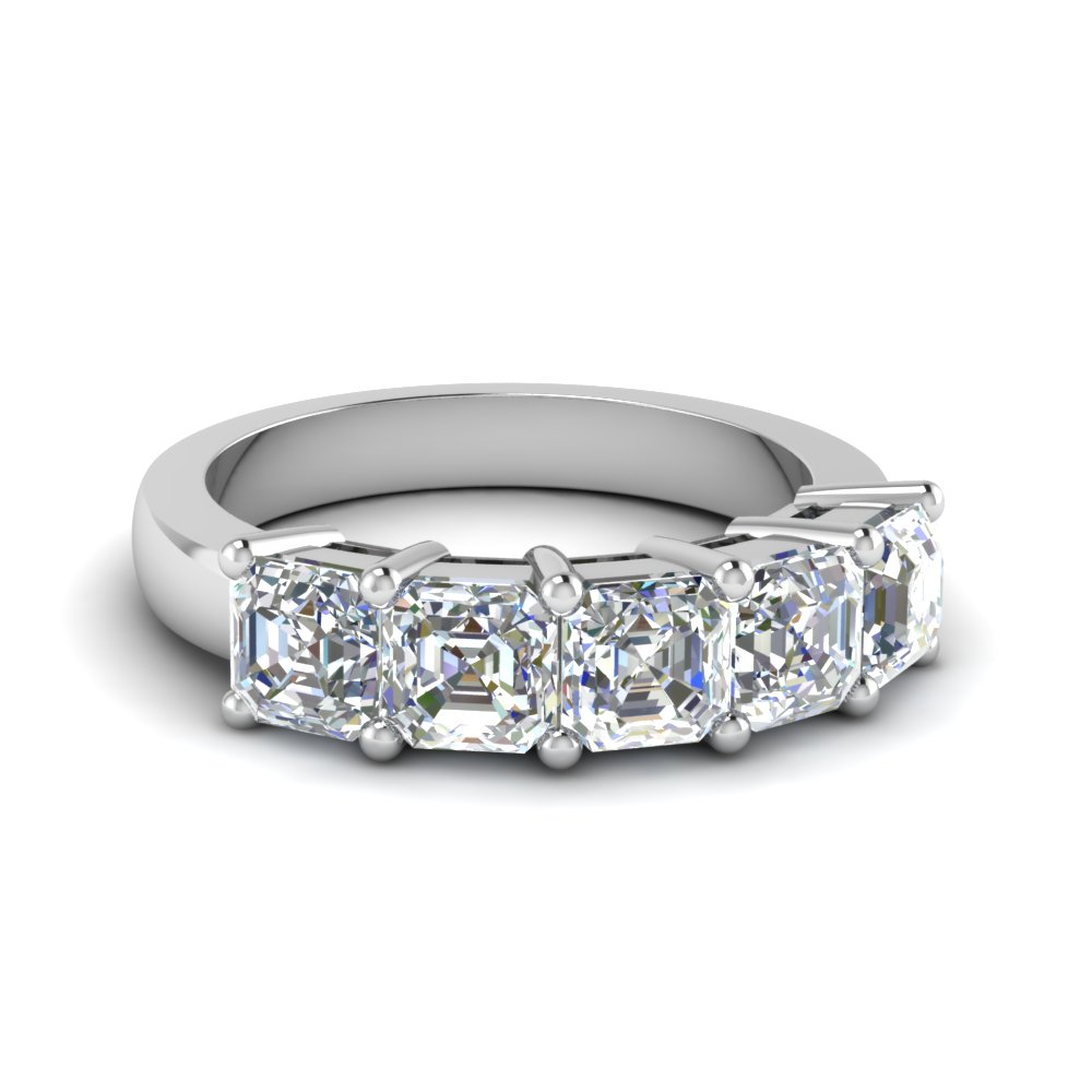 Five Stone Cher Cut Diamond Band In Fd8008asb
