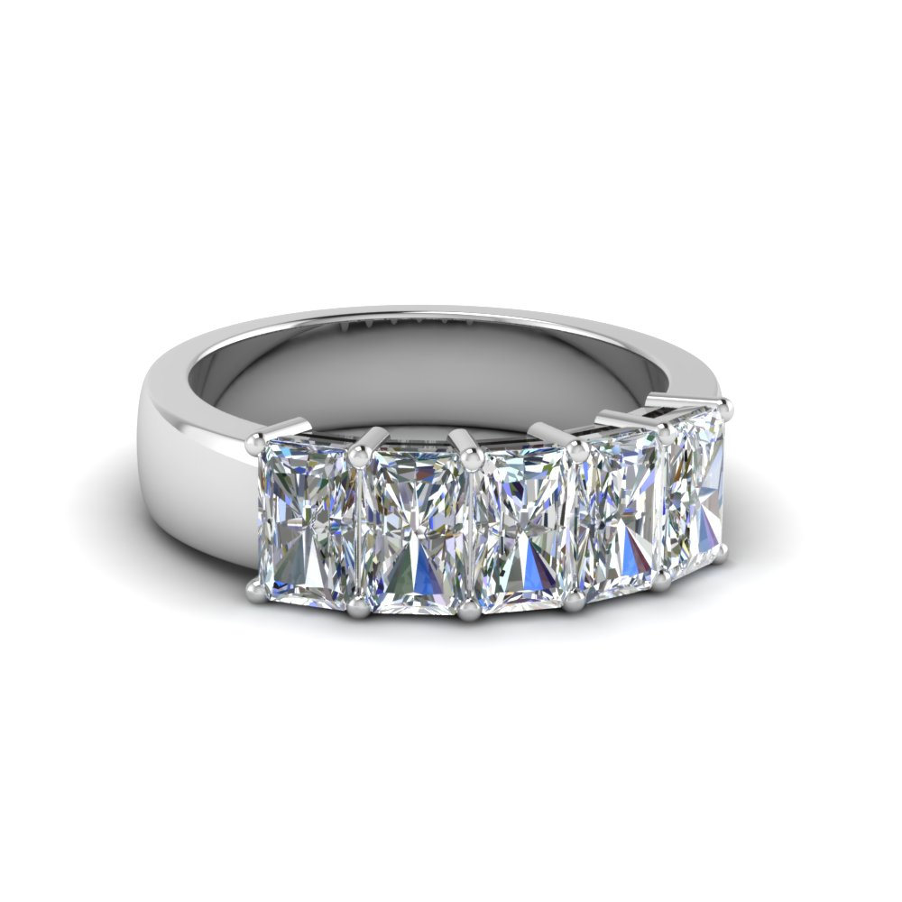 Five Stone Radiant Diamond Band 2 Ct