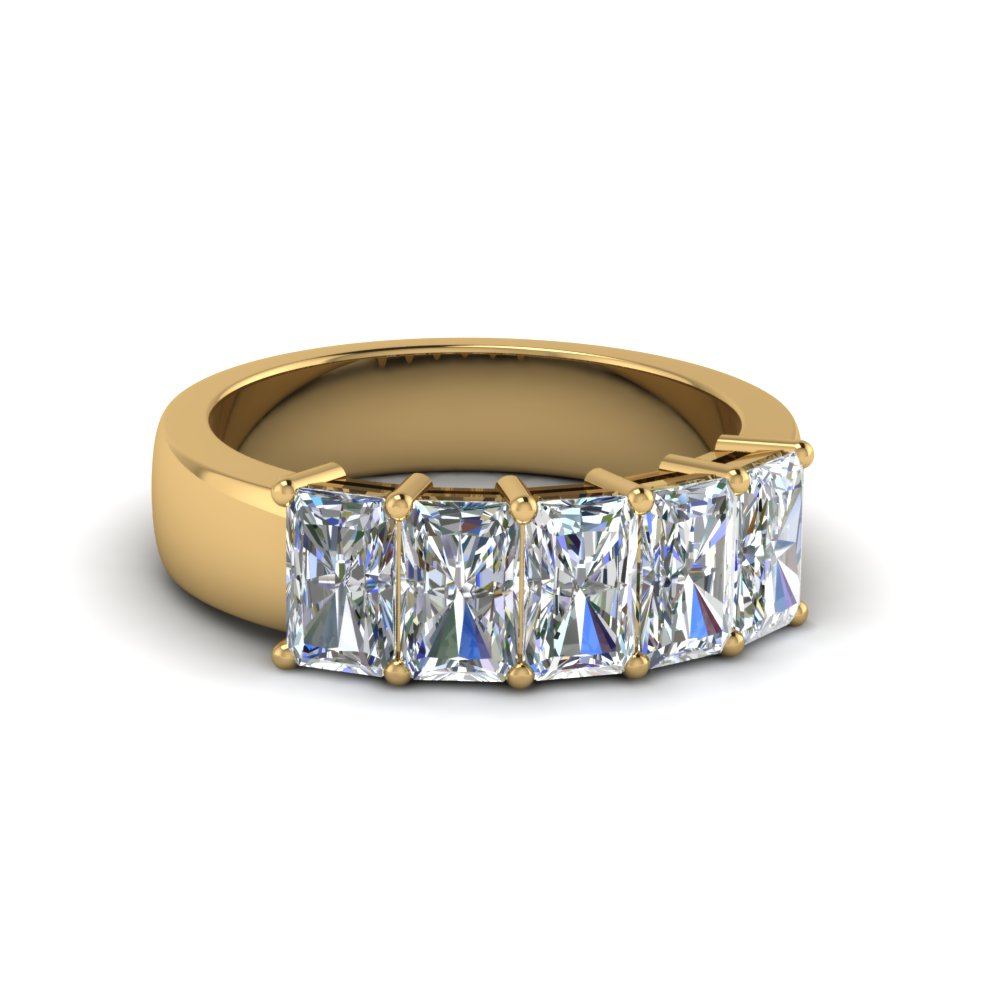 Radiant Diamond Anniversary Band 2 Ct.