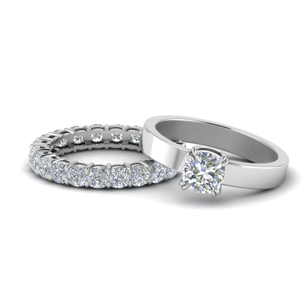Diamond Solitaire With Eternity Set