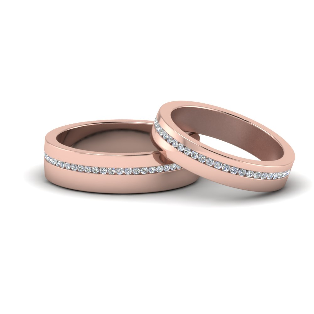Flat Diamond Matching Anniversary Band
