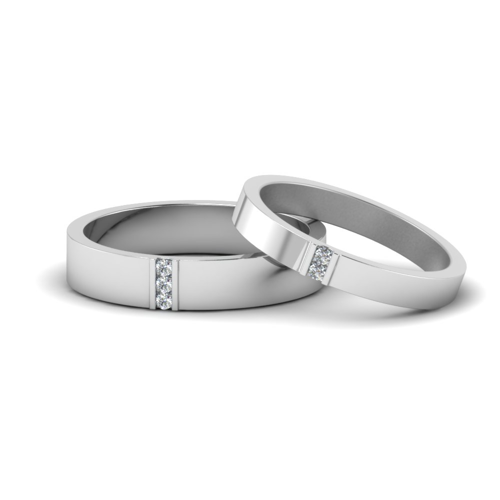 and regard wedding sets to gold his hers rings matching groom bride for white with