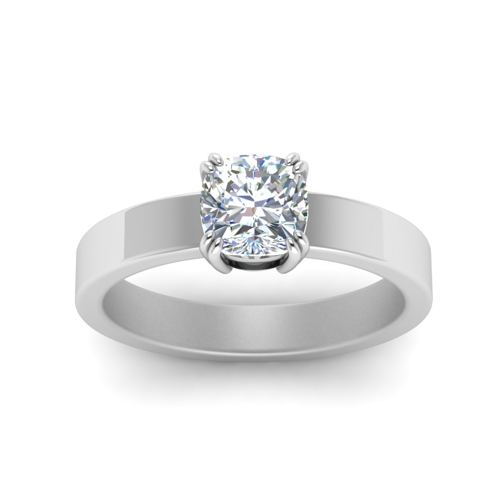 her diamond princess shiny in kalfin jewellery flat by plain rings wedding cut ring for finish gents centre