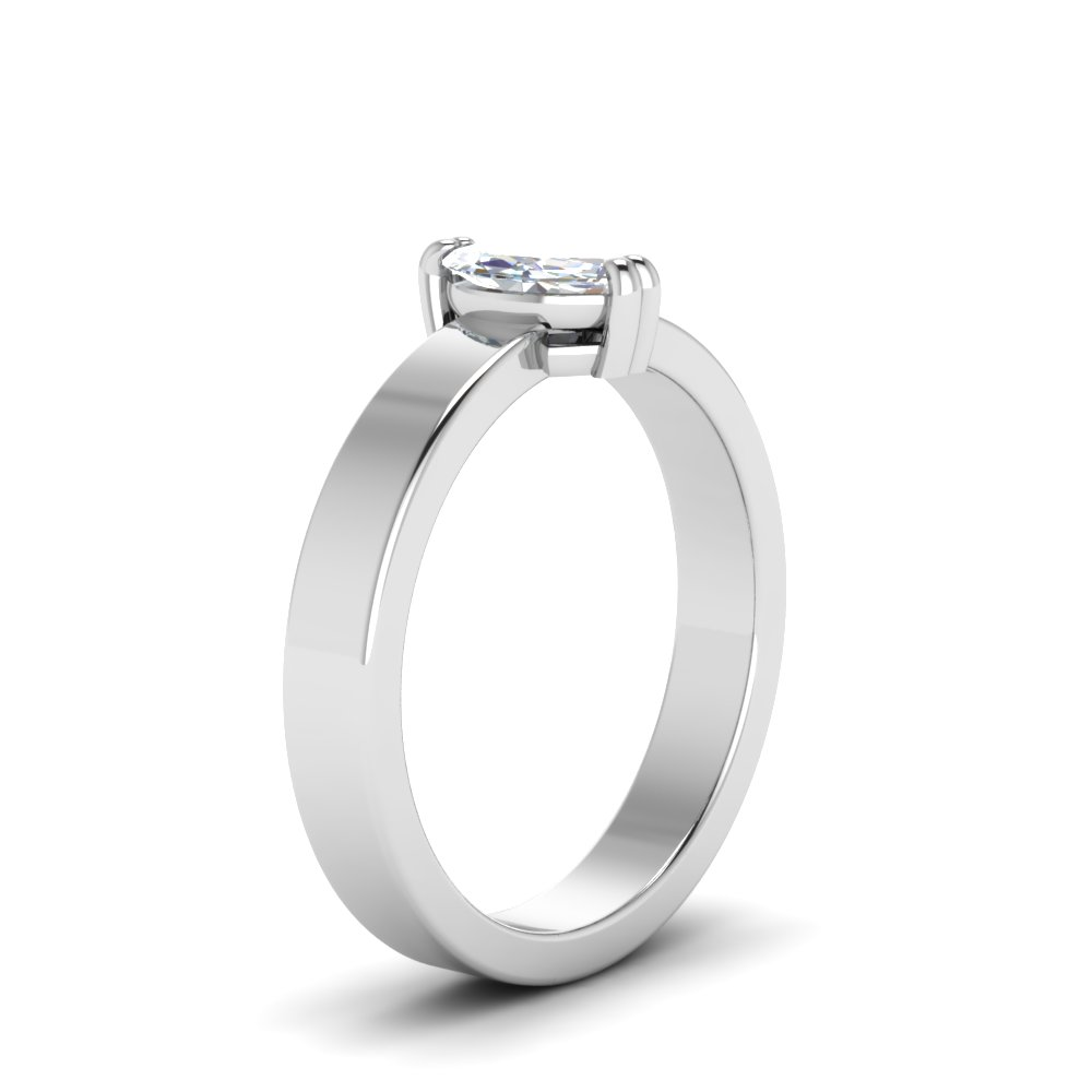 from engagement rings products flat diamond bay cut ring