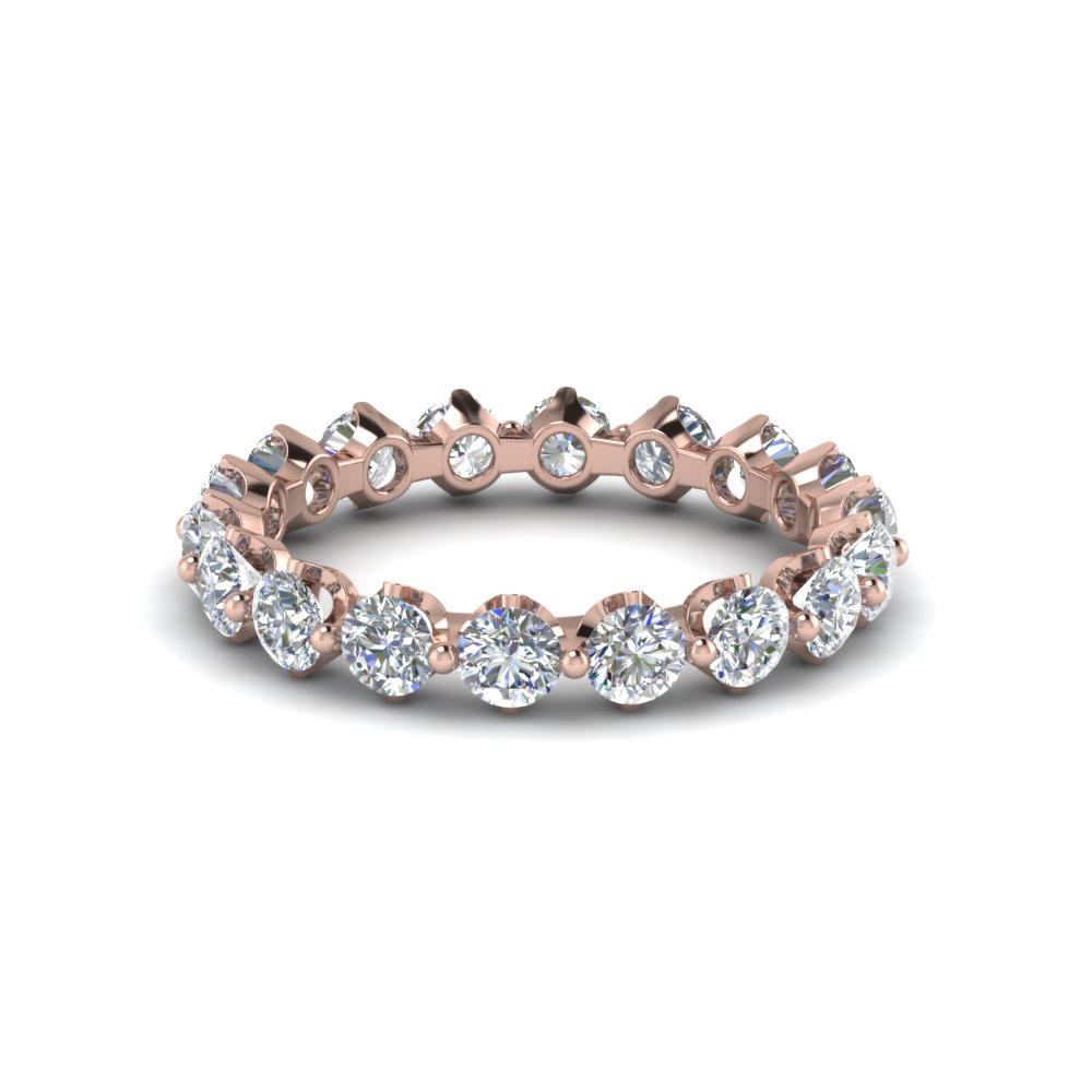 floating diamond eternity band for women in 14k rose gold. Black Bedroom Furniture Sets. Home Design Ideas