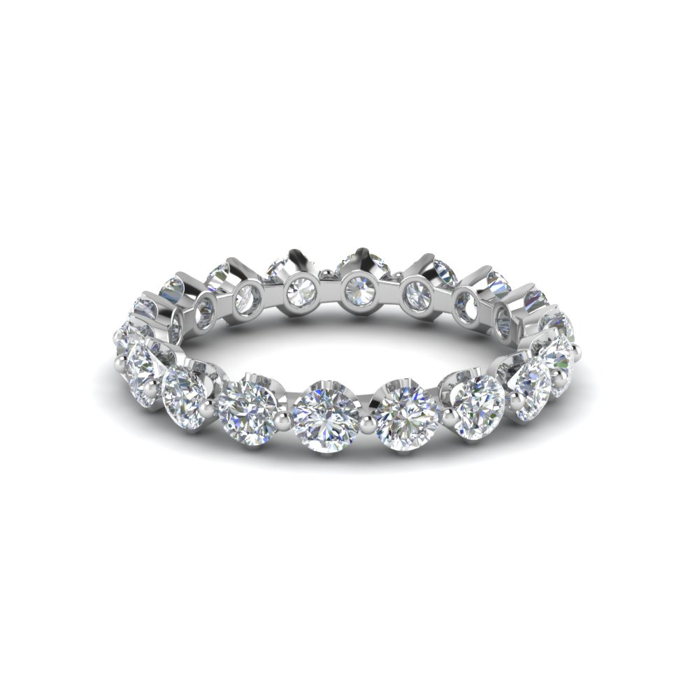 Floating Round Diamond Eternity Band For Her
