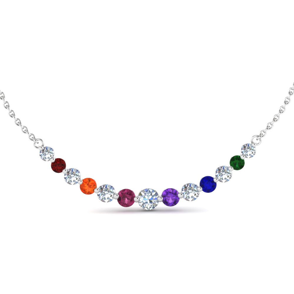 Floating Graduated Diamond Necklace