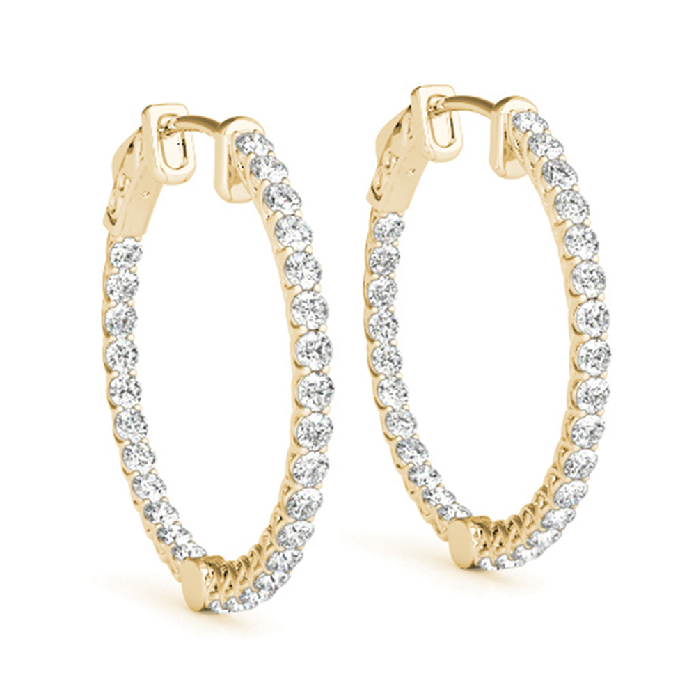 Beautiful Inside Out Hoop Earring