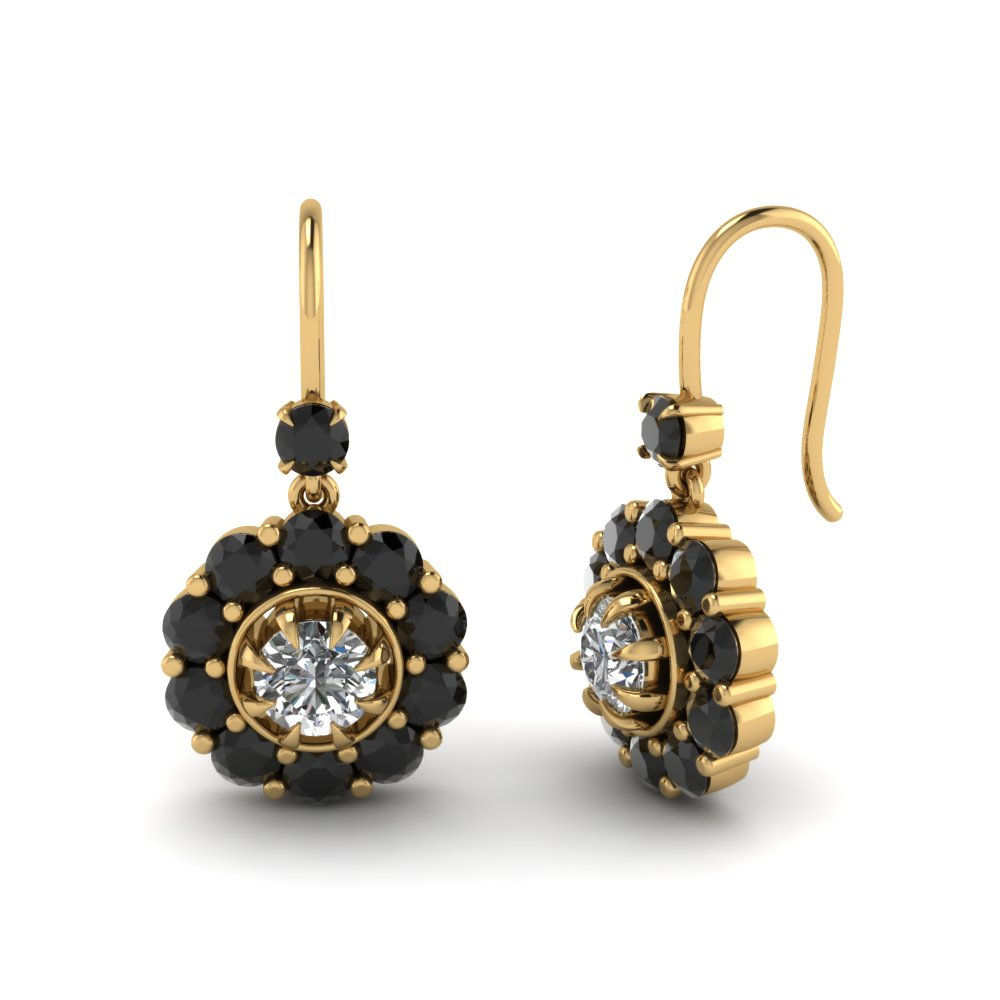 gold round bling niv out black s img stud iced earrings products