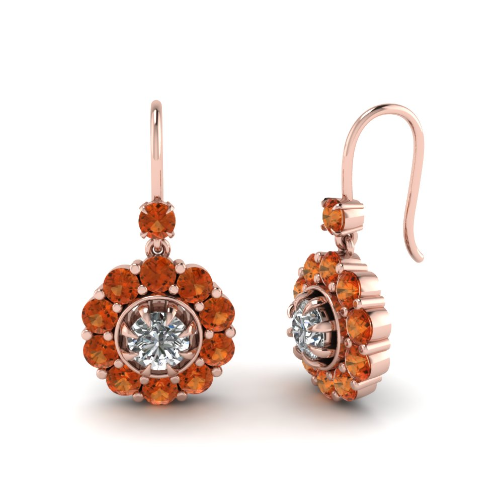 floral-diamond-dangle-earring-with-orange-sapphire-in-FDEAR1128GSAOR-NL-RG