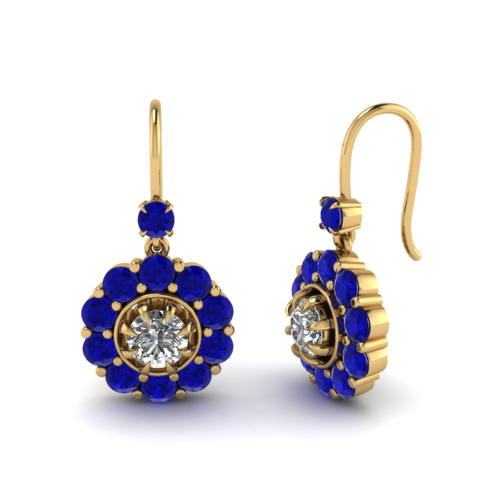 floral-diamond-dangle-earring-with-sapphire-in-FDEAR1128GSABL-NL-YG