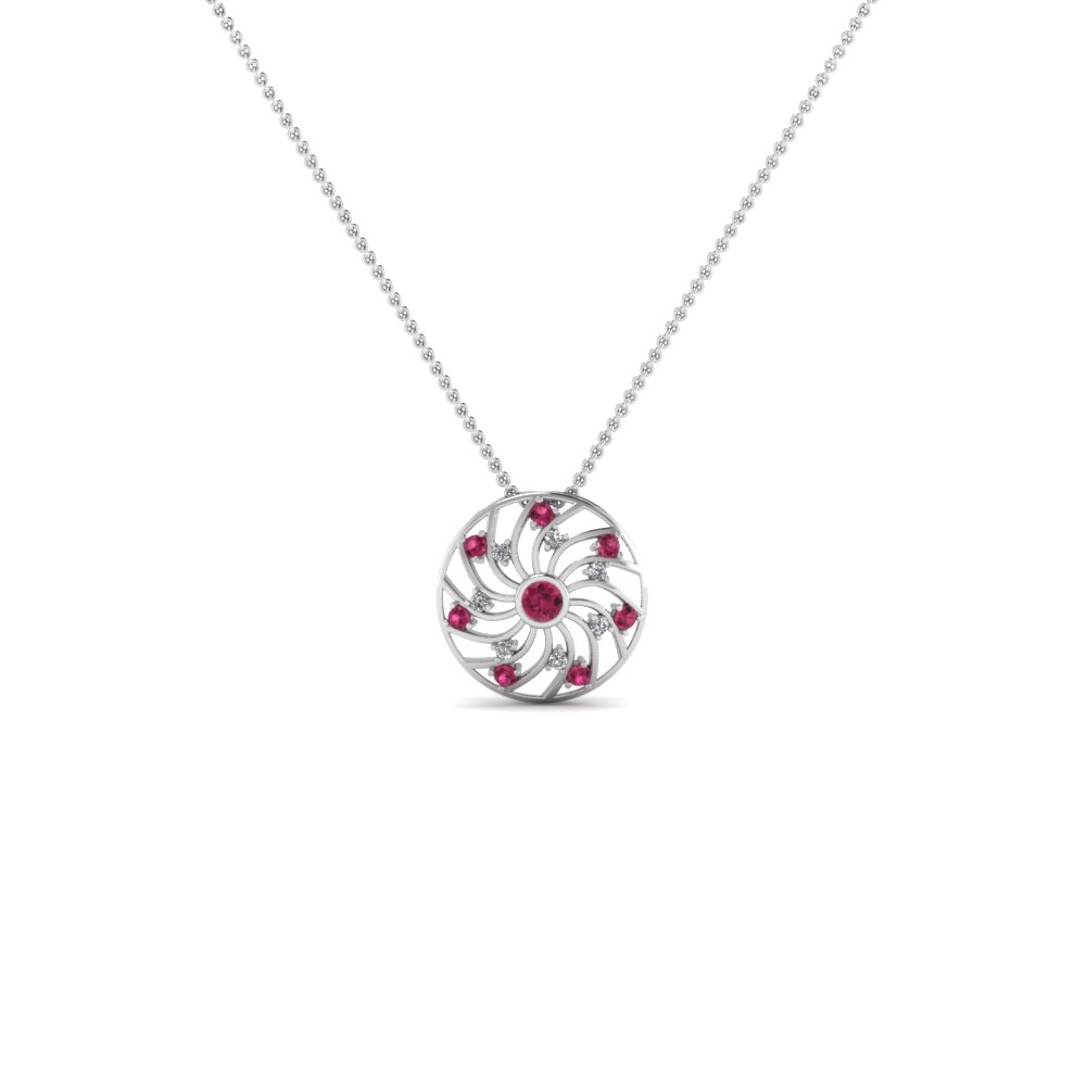 Circular Fancy Diamond Pendant