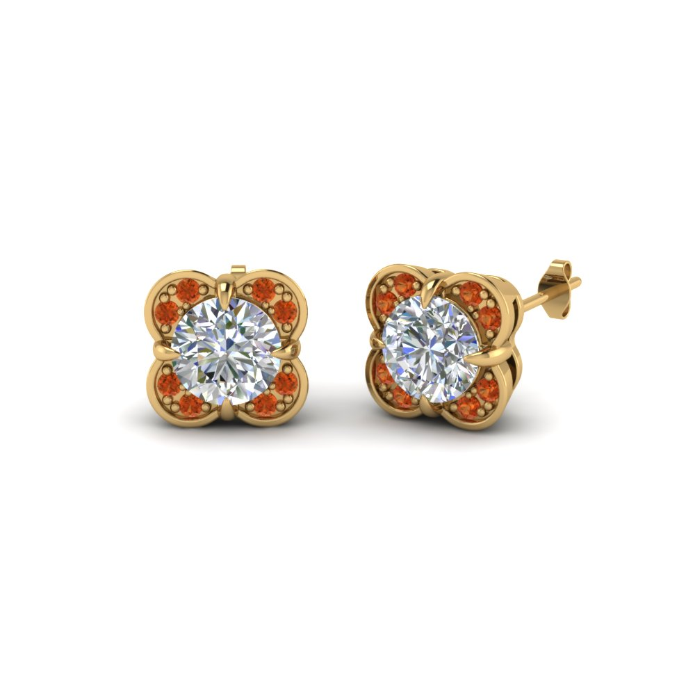 Round Diamond Stud Earring