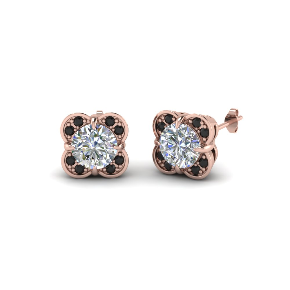 Floral Stud Diamond Earring