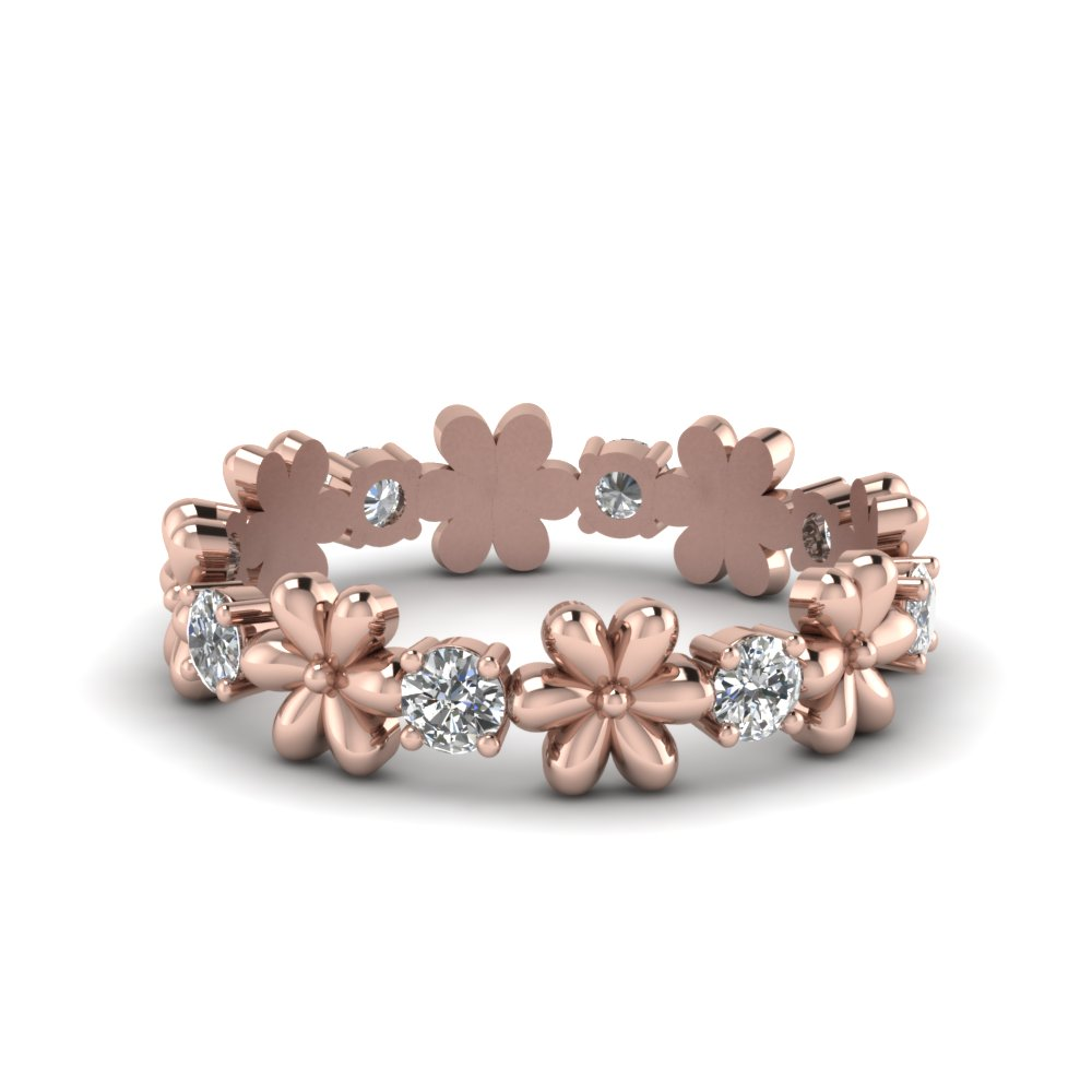 flower diamond band for women in FD8299R NL RG