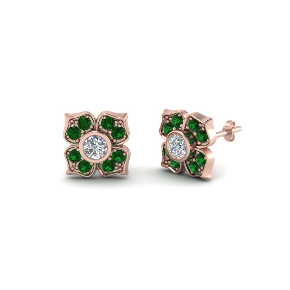 Affordable Green Stud Earrings Nature Inspired