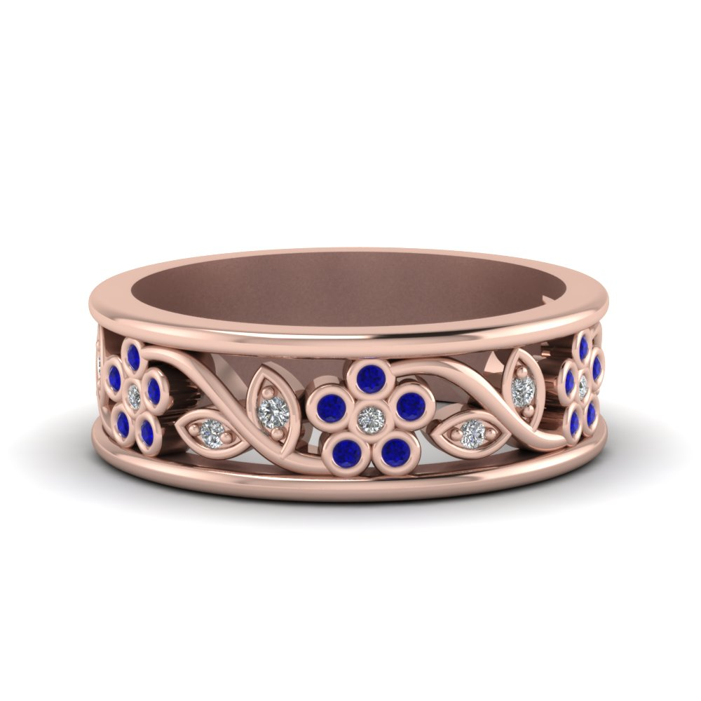 Flower Wide Band For Women
