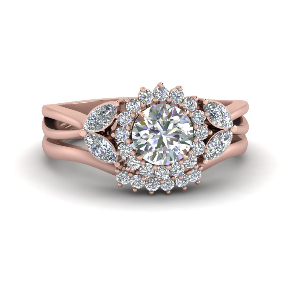 flower-halo-split-shank-diamond-ring-set-in-FD9233RO-NL-RG