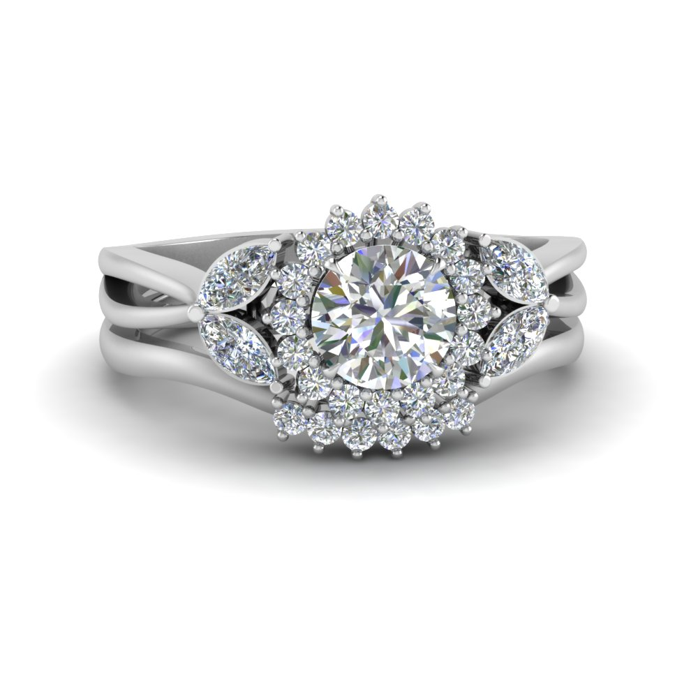 flower-halo-split-shank-diamond-ring-set-in-FD9233RO-NL-WG