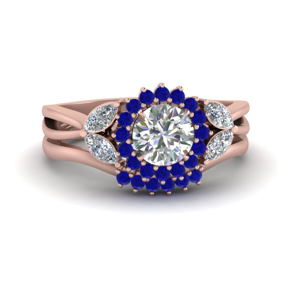 flower-halo-split-shank-diamond-ring-set-with-sapphire-in-FD9233ROGSABL-NL-RG