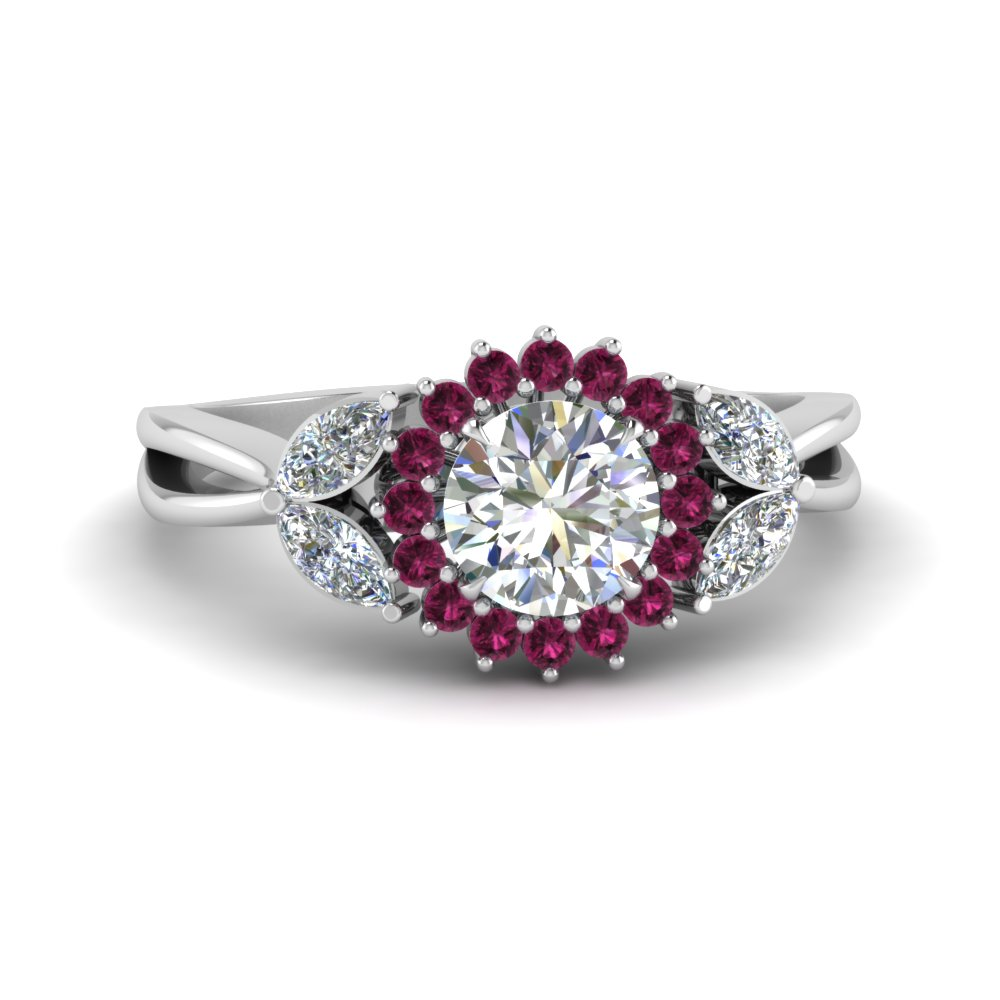 Pink Sapphire Ring For Engagement