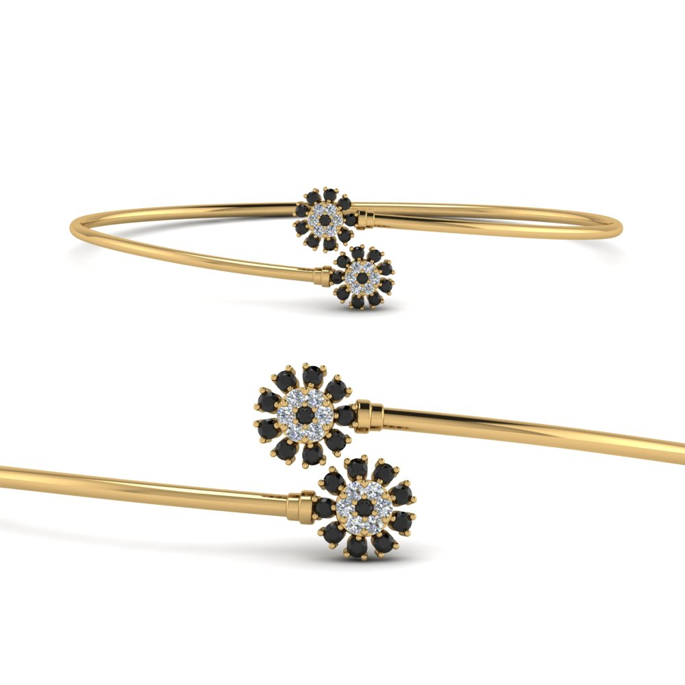 flower-open-bracelet-with-black-diamond-in-FDBRC9269GBLACKANGLE2-NL-YG