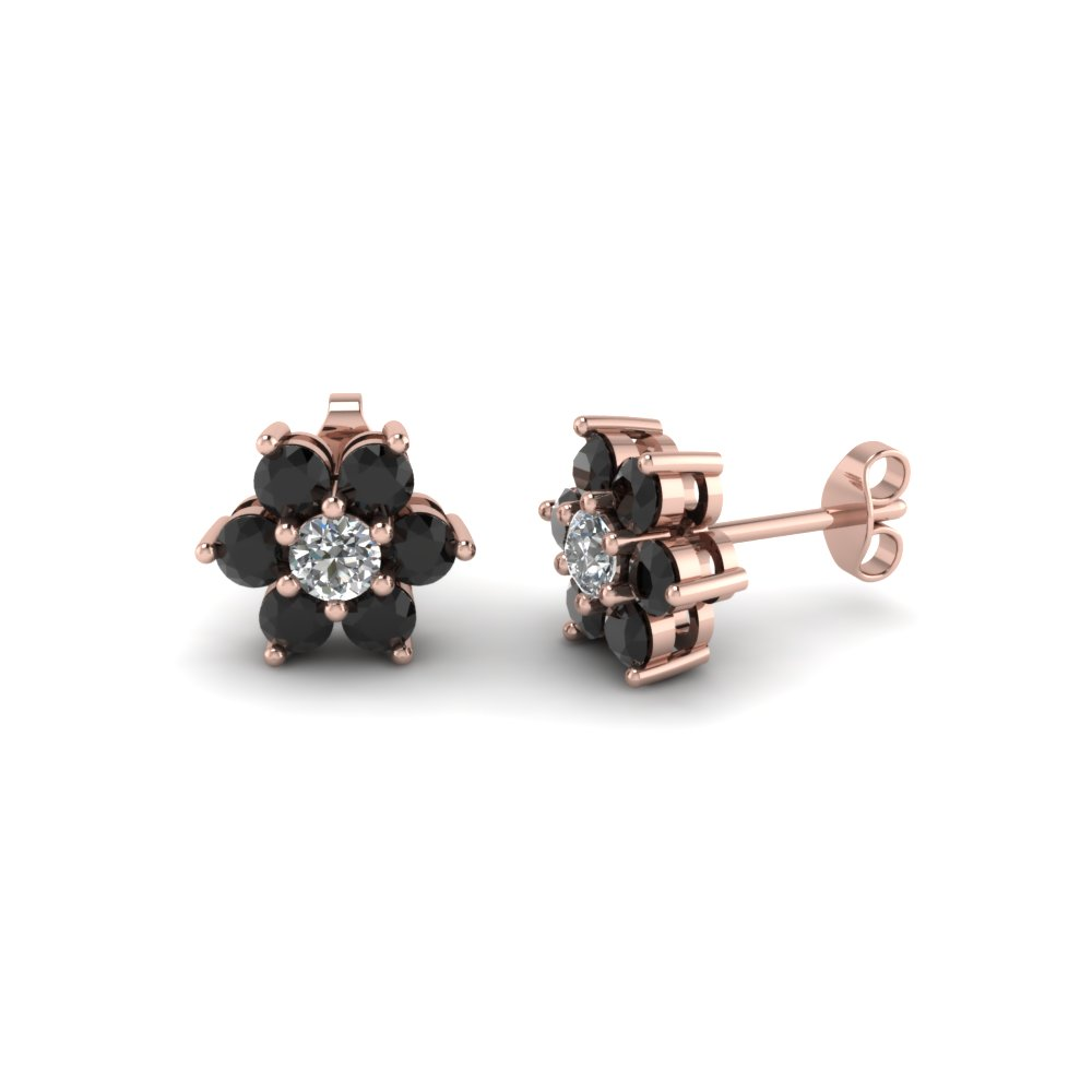diamond glorified earrings stone com black earring jacknjewel