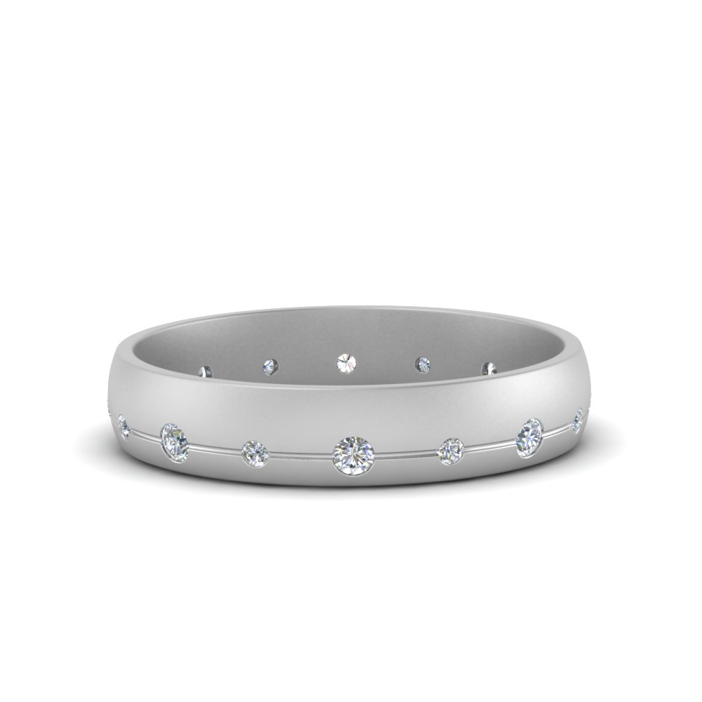 flush set diamond wedding band in FDM122266B NL WG