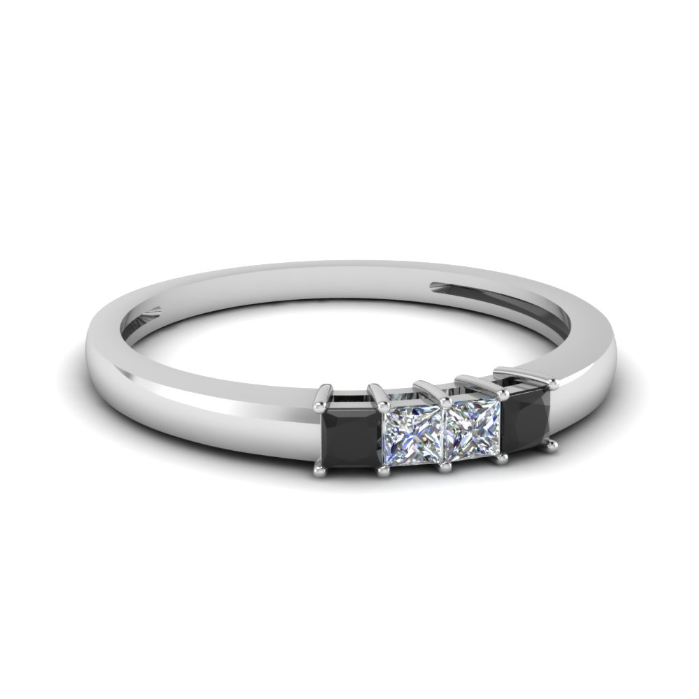 4 Princess Cut Anniversary Band