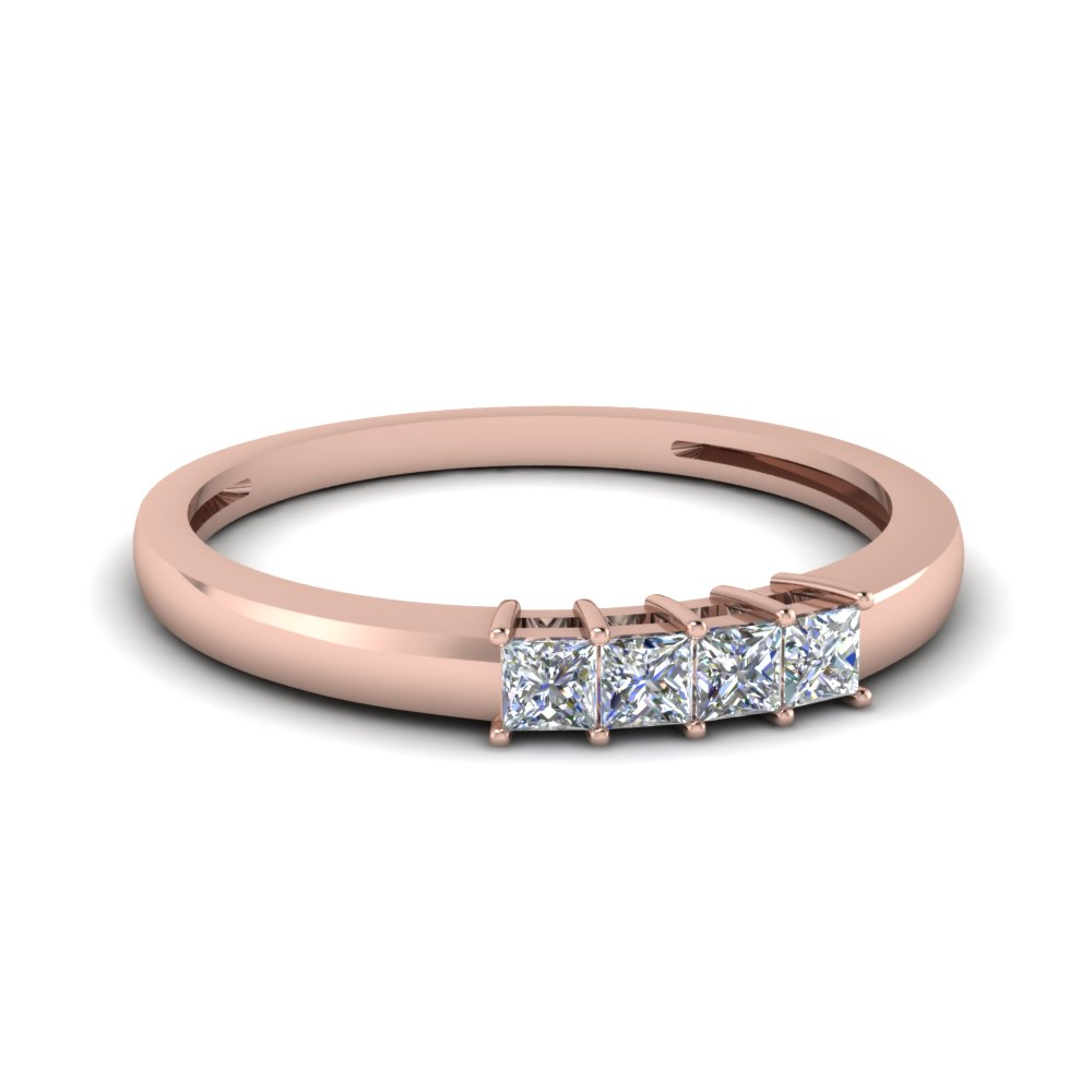 Delicate Princess Cut Anniversary Band