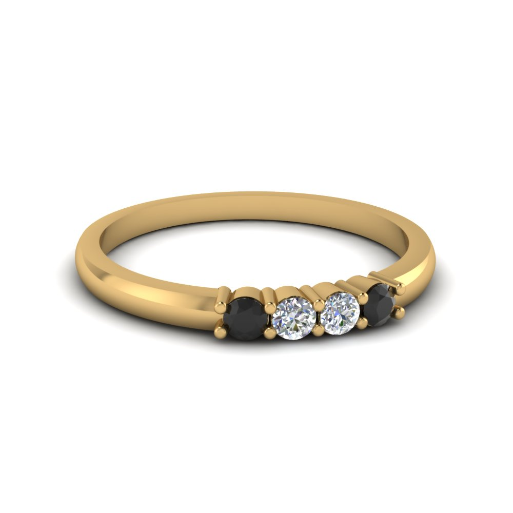 Simple Black Diamond Band