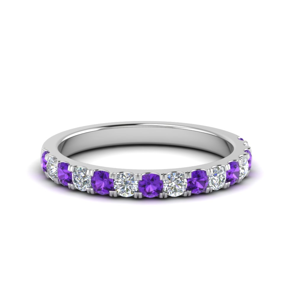 French Pave Purple Topaz Band