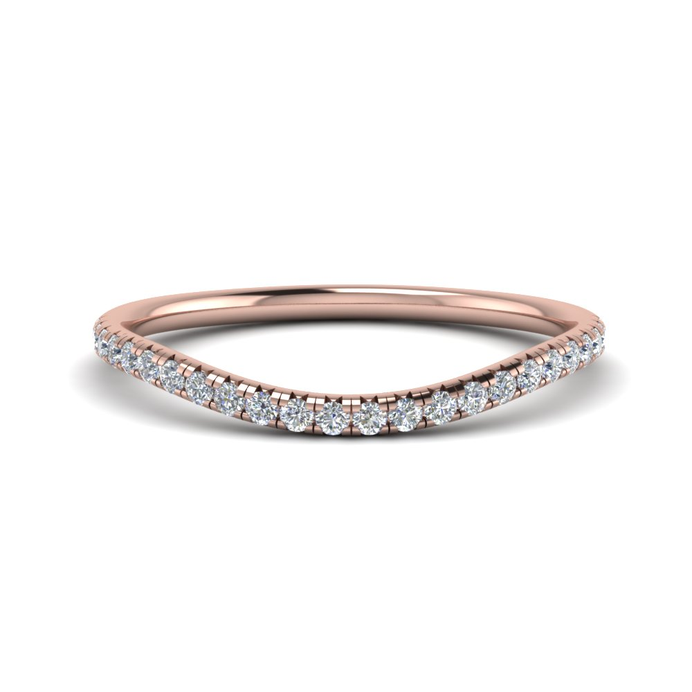 french pave diamond contour wedding band in FD123457B NL RG