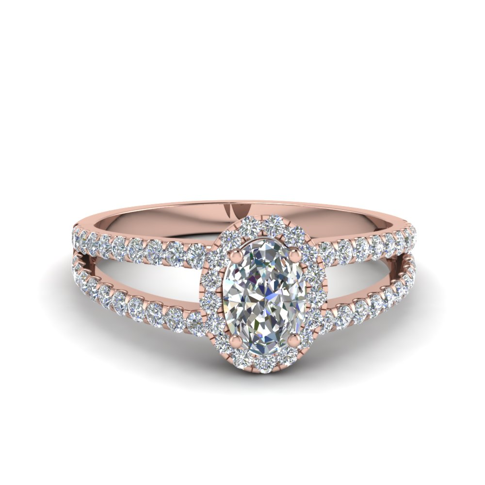 French Pave Diamond Halo Ring