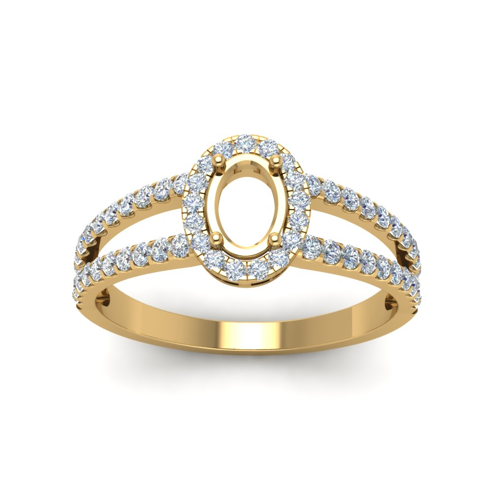 Semi Mount Split Shank Ring