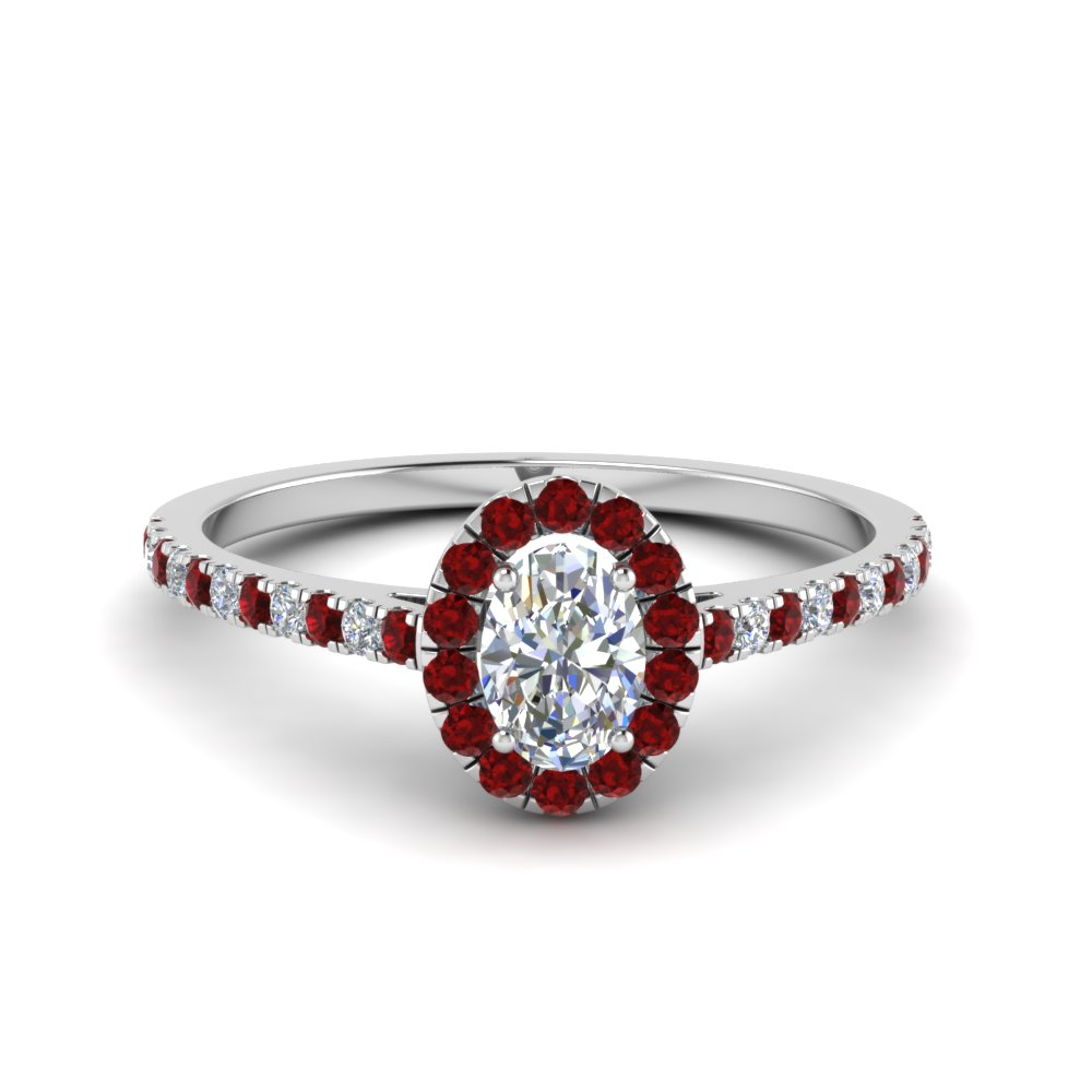 Ruby Accent Oval Shaped Ring