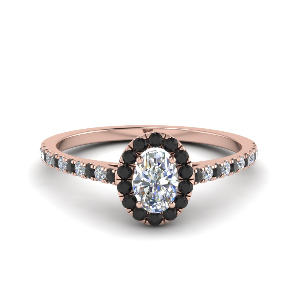 Beautiful Black Diamond Halo Ring