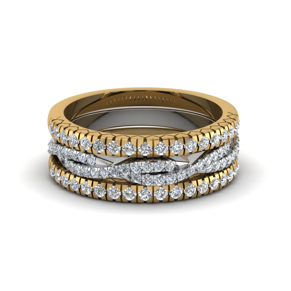 French Pave Rope Stackable Band