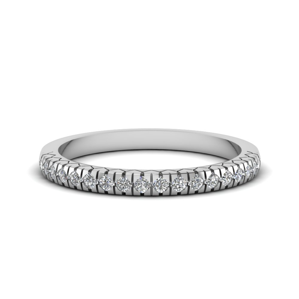 Petite French Prong Diamond Platinum Band