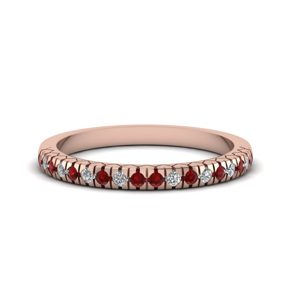 French Prong Delicate Anniversary Band