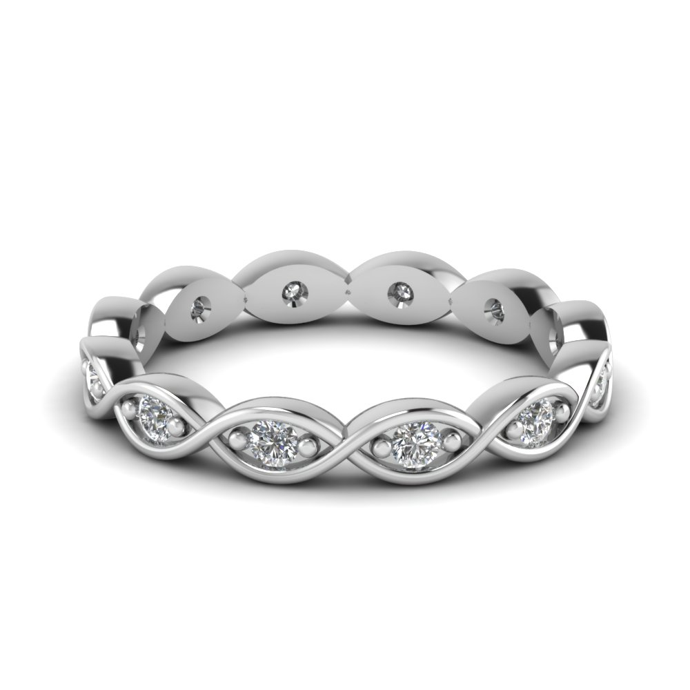 infinity eternity diamond wedding band in FDEWB345B NL WG