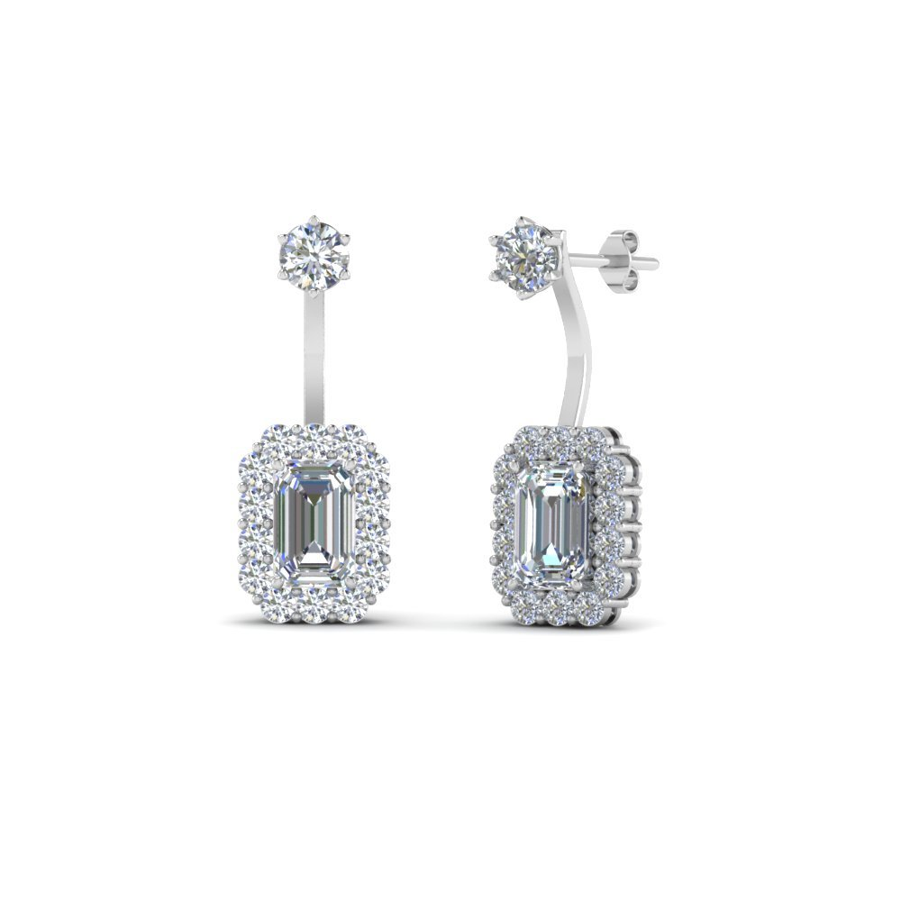 front back diamond earring in FDEAR8561 NL WG