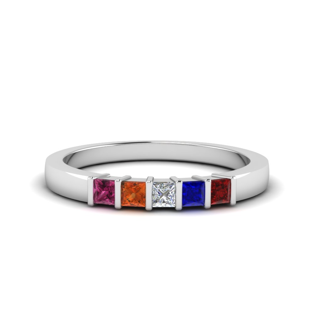Gemstone Mothers Ring 5 Stones