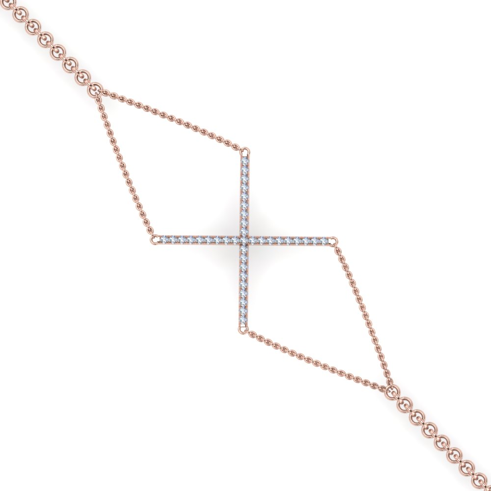 geometrical shape diamond bracelet in FDBRC8984 NL RG