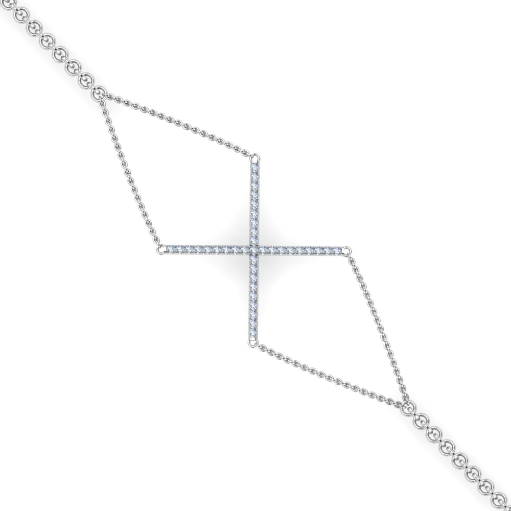 geometrical shape diamond bracelet in FDBRC8984 NL WG