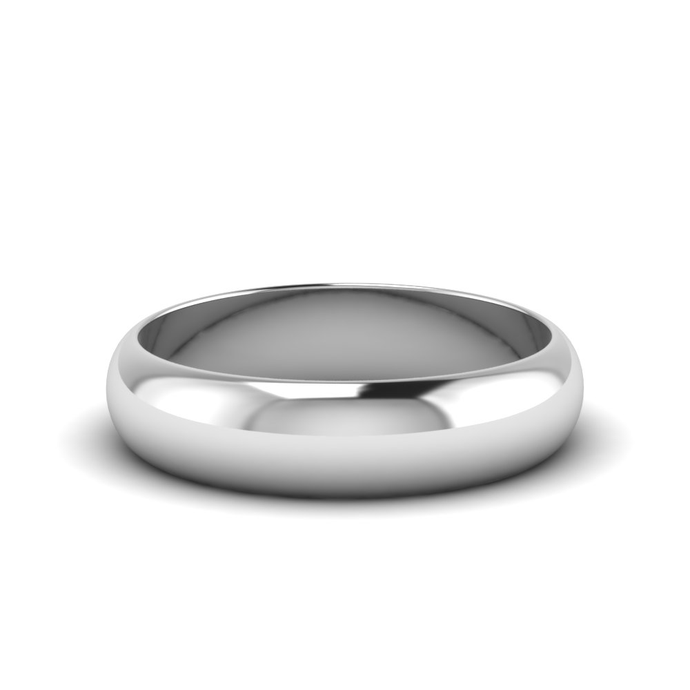 Glossy White Gold 6mm Band
