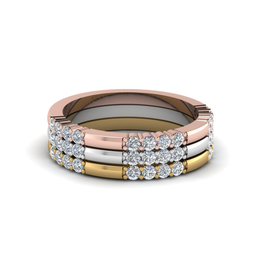 Gold And Diamond Stackable Band