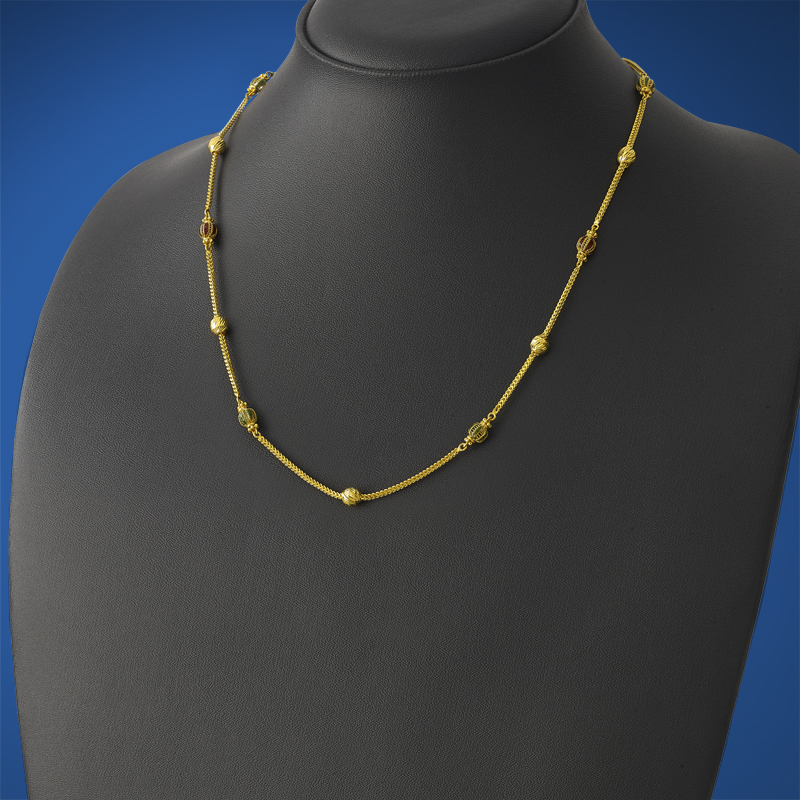 gold-ball-and-enamel-chain-in-MGSDB189-NL-YG